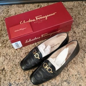 Ferragamo Boutique Morning Nero Nappa Women's 7.5